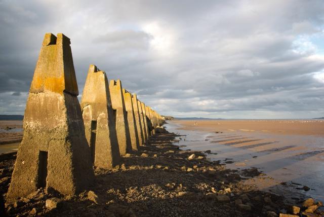 Cramond beach